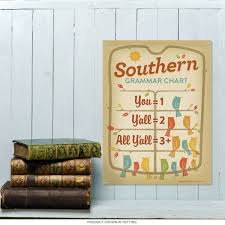 southern grammar chart metal sign 12 x 16 us travel decor