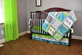 Green Elephant Crib Bedding Modern Elephant Crib Bedding The Decorate Modern Crib