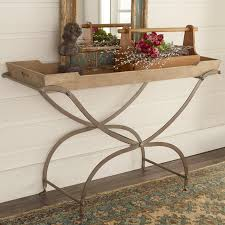 tray top end table wooden tray top console table shades of light