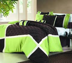 Green Bed Sets Simple Bedroom With Embroidered Green Brown Bedding Sets