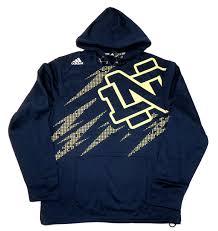 Notre Dame Infant Clothes Adidas Notre Dame Mens Aftershock Performance Hoodie Sweatshirt