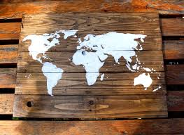 World Map Stencil by Rustic World Map Diy