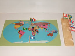 World Map With Flags Flag Stand World Map With Flags Montessori Pre Supplies