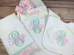 engravable baby gifts monogram initial embroidered gown monogram baby gown beanie hat