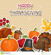 happy thanksgiving day background design with stock vector image