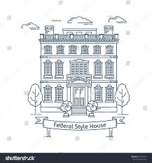 real estate market concept flat line stock vector 343235417