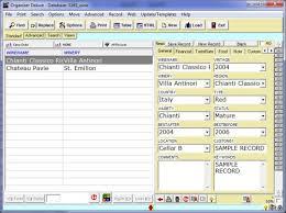 free wine organizer inventory database template for organizer