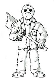 chucky coloring page vector coloring page of a black and white human factor