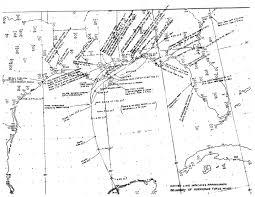 Santa Rosa Zip Code Map by Hurricane Flossy September 1956