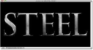 tutorial photoshop cs5 membuat logo metal text effect in photoshop