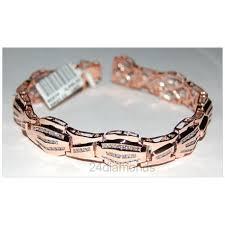 rose gold bracelet diamonds images Rose gold mens 3 32 ct diamond bracelet jpg