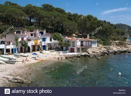 Spanish Mediterranean View Of A Small Mediterranean Town In The Spanish Coastline