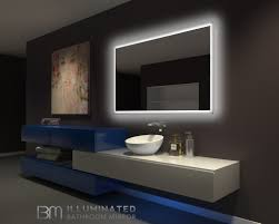 60 bathroom mirror backlit bathroom mirror rectangle 60 x 36 in ib mirror