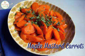 easy and tasty thanksgiving side dish maple mustard carrots
