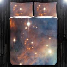 Space Bedding Twin Nebula Galaxy Planet Outer Space Duvet Cover Bedding Queen