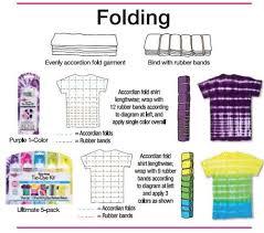folding tie dye technique from tulip favecrafts com