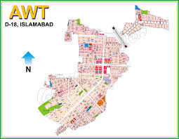 Islamabad Map Maps In Islamabad Sector D D 18 Awt