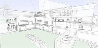 kitchen lovely restaurant kitchen layout 3d restaurant kitchen