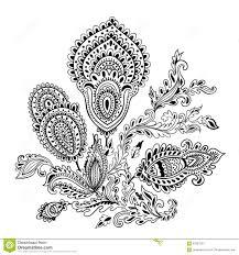 beautiful indian floral mandala ornament stock vector image