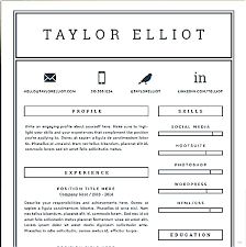 resume template for pages one page resume template performance simple snapshoot studiootb