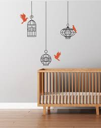 bird cage wall decal hanging cages and flying birds wall bird bird cage wall decal hanging cages and flying birds wall