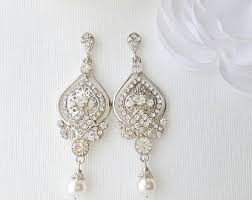 Vintage Pearl Chandelier Earrings Bridal Earrings Etsy