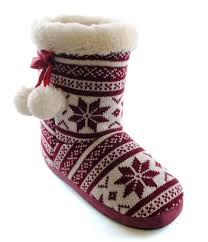 womens boots uk size 8 womens slipper boots booties slippers knitted or fleece
