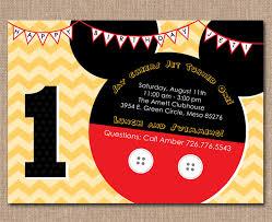 mickey mouse 1st birthday invitations ideas u2013 bagvania free
