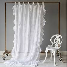 bella notte linens linen whisper curtain panel with ruffle ships free