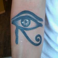dude asked for an eye of horus so i did this ink and iron