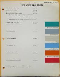 dodge truck dupont paint color chips original bulletin 24 sheet 3