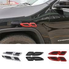 jeep hood vents mopai abs car exterior air flow hood vent side body emblem engine