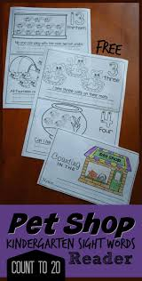 kindergarten worksheets and games free pet shop count to 20