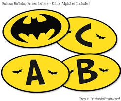 free printable batman birthday banner u2014 printable treats