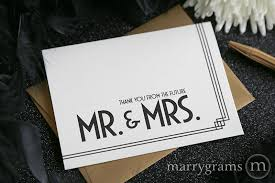 wedding thank you card thank you from the future mr and mrs