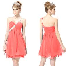 online get cheap peach one shouldered bridesmaid dresses