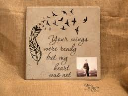 in memory of gifts personalised 12x12 your wings were ready in loving memory sign memorial gift