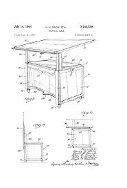Drafting Table Height by Patent Us3140559 Drafting Table Google Patents