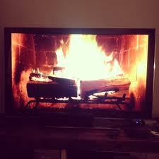 party tip roaring fire on a tv a cup of jo