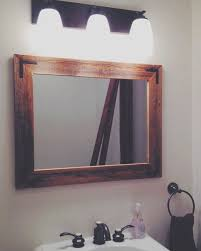 Rustic Bathroom Mirror - framed bathroom mirror framing bathroom mirror home design