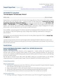 Sap Fico Sample Resumes by Sap Fico Data Migration Resume Corpedo Com