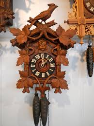 furniture beautiful cuckoo clock made of wood with bird and