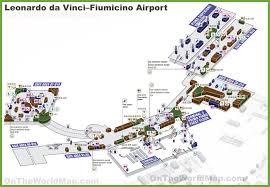 leonardo da vinci u2013fiumicino airport map
