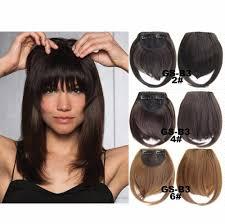 aliexpress com buy clip in fringe blunt bangs cute and easy