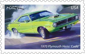 1970 Muscle Cars - us postal service gets street cred with muscle car stamps the