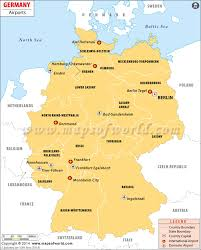 German States Map by Airports In Germany Germany Airports Map