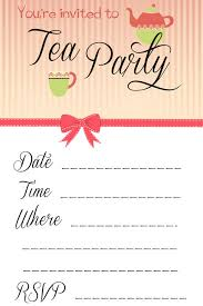 free garden tea party invitation templates u2026 pinteres u2026