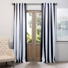 Black And White Stripe Curtains Half Price Drapes Boch Kc43 96 Blackout Curtain