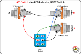a b switch wiring diagram no led dpdt switch diy pedals