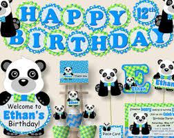 panda birthday party etsy